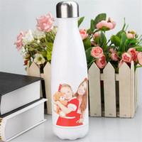 التسامي 17 أوقية زجاجة كولا بيضاء فارغة الفولاذ المقاوم للصدأ 500 ملليلتر المياه بهلوان المياه مزدوجة جدار فاكوم نقل الحرارة KKB7205