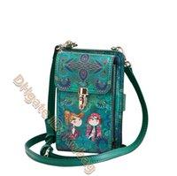 2021 Printed leather cell phone bag Messenger Handbags Fashion Purse Clutch multi-purpose Cross Body Handbag shoulder bags High quality Mini hand flap Wallet