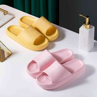 Trend 4cm Heel Thick Sole Indoor Women Bath Slippers EVA Ag+ Antibacterial Lovers Platform Shoes Non-slip Ladies Slides Sandals 210416