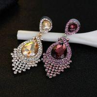 Crystal Diamond Earrings Studs Dangle Ear rings Women Wedding Fashion Jewelry Will and Sandy