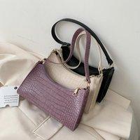 Waist Bags 2021 Fashion Alligator Leather Baguette Bag Lady Shoulder Messenger Women Handbags Crossbody Totes
