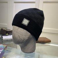 2021 Мода шапочки шапки шапки шляпы бренда мужчины осень зима спортивные вязаные шляпа сгущают теплый повседневная открытая крышка двойной фана