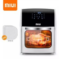 MIUI 10L 12.7QT Air Fryer Oven No Oil Toaster for Home Electric Rotisserie Oven with LED Digital Touchscreen Frying Machine 5in1
