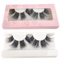 Hot 27mm DIY Mink Eyelashes Dramatic 100% Handmade Makeup Segmental Lashes Thick Long False Eyelash Extension