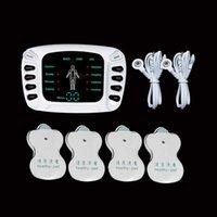 8 Modos Unidade de Máquina de Tenas 4 Almofadas de Eletrodo para Massagem de Pulso de Relevo Dor Massagem Ems Estimulação Muscular Tenas Electroestimulador X0709