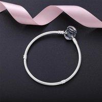Avec charmes authentique coeur 925 Bracelet en argent sterling Fit Pandora perles européennes bijoux bracelet en argent réel pour femmesBG2U