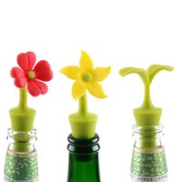 Silicone Flower Wine Stopper Reusable Beer Champagne Whiskey Bottle Cork Vacuum Sealed Cover Bar Accessories Barware RRD7505