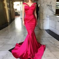 New Arrivals Prom Dress V Neck Mermaid Satin Special Occasion Islamic Long Formal Evening Party Gowns Dubai Saudi Arabic