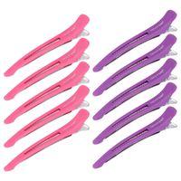 Clip per capelli 10pcs salone sezione taglienti in metallo per lo styling e la colorazione