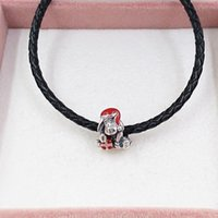 pandora charms jewelry making kits 925 sterling silver love bracelet chain beads Disny Eeyor Christmas personalized necklace for women mens couples fits 798449C01