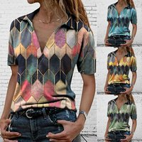 Summer Casual Loose T Shirt Ladies Patchwork Pullover Print Short Sleeved Tops Fashion Plus Size Clothing Blusa De Frio Feminina 210609