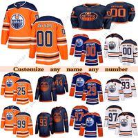 Benutzerdefinierte Edmonton-Öler Hockey-Trikots 97 Connor McDavid 74 Ethan Bär 15 Josh Archibald 99 Wayne Gretzky Jede Nummer und Name