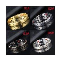 Identification Alloy health care couple magnetic bracelet removable