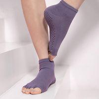 Sports Socks Women High Quality Five Toe Pilates Yoga Breathable Anti-Slip Ballet Dance Fitness Sportswear Accessories