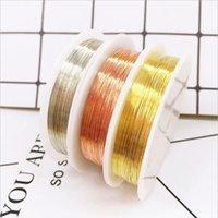All'ingrosso 0.3 / 0.4 / 0.5 / 0.6 / 0.7 / 0.8 / 0.6 / 0.7 / 0.8mm in ottone in oro argento fili di rame filo per gioielli facendo colori di rame
