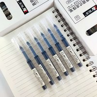 326 Zhiyang 직접 액체 볼펜 0.5mm 대용량 중성 물 기반 서명 탄소 사무실 테스트