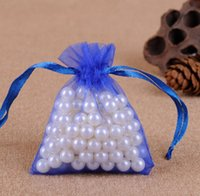7*9cm Jewelry Bags MIXED Organza Jewelry Wedding Party favor Xmas Gift Bags Purple Blue Pink Yellow Black With Drawstring wjl4104