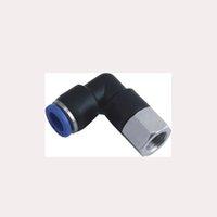 """PLF 6mm, 8mm weiblicher Ellenbogen 1/4 """"1/8"""" Gewinde-Thread in pneumatische Anschlussluftröhre"""