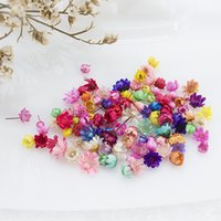 100pcs Dried Flowers Head Dry Daisy Plants for Epoxy Resin Pendant Necklace Jewelry Making Craft DIY Nail Art Accessories
