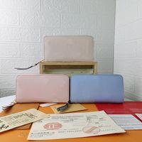 Alta Qualidade Luxurys Designers Carteiras Bolsas Mulher Moda pela Piscina Monogrames Zippy Long Carteira Cartão Bolsa Com Bolsa De Poeira