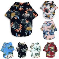 Dog Apparel Summer Pet Printed Clothes For Dogs Floral Beach Shirt Jackets Coat Puppy Costume Cat Spring Clothing Pets Outfits