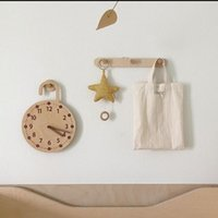 Wall Clocks 1PC Wooden Silent Simple Digital Clock For Kids Room Hanging Ornament
