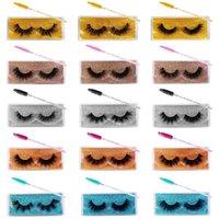 Wholesale 3D Faux Mink Lashes Bulk 30 Pairs False Eyelashes Wispy Natural 15 Styles Mixed Soft Reusable Eyelash Extension Lash Pack with Glitter
