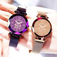 Designer Uhr Marke Uhren Luxus Uhr Bär Edelstahl Milan Gurt Korean Casual Für Frauen Relojes Para Mujer
