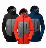 Vendi uomini Softshell Giacche con cappuccio Apex Bionic all'aperto Cappotto sportivo Impermeabile Inverno Outwear in pile Soft Shell Giacca Giacca da uomo