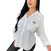Women Ladies White Blouse Long Sleeve Casual Blouses Shirt for Womens Plus Size S-2XL