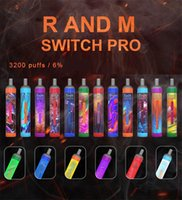 Authentic cigarettes Randm Switch Pro 2in1 Disposable Pod Device Vape Pen 3200 Puffs with RGB Light Battery Rechargable