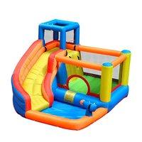ألعاب ألعاب في الهواء الطلق نفخ الشريحة المياه مع حمام السباحة والسلون حارس القلعة المائية للإغاثة للأطفال معدات متنزه