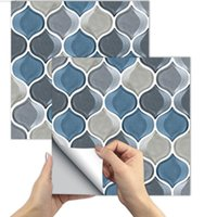 Window Stickers 3D Bathroom Wall Decorative Self-adhesive Tile Peel Stick Backsplash Fire Retardant Sheet For Kitchen