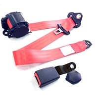 2021 Universal 3 Point Retractable Car Safety Seat Belts Adjustable For Auto Cars With Curved Rigid Buckle