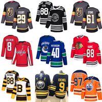 2021 Toronto Maple Leafs جيرسي فانكوفر Canucks 40 Pettersson Edmonton Oilers 97 Vegas Golden Knights 29 Marc-Andre Fleury Hockey Jerseys