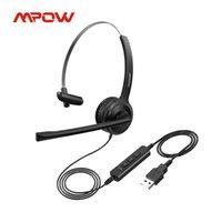 MPOW BH323 fone de ouvido fone de ouvido estéreo fone de ouvido com cancelamento de ruído Mic 3.5mm / usb plugue rotação flexível para o Call Center PC Portátil