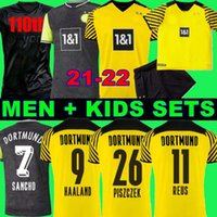 Fanlar oyuncu 1990 Sınırlı Sayıda Haaland Reus Borussia 21 22 4. Dortmund Futbol Forması 2021 2012 Futbol Gömlek Bellingham Sancho Hummels Piszczek Erkekler + Kids Kiti