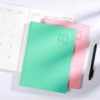 2021-2021 Calendario anual de papel Calendario Daily Scheduler Descondor Planificador Cuaderno Agendas Faux Cuero Material Color Sólido Mini Tamaño Libretas