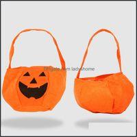 Other Festive Supplies Home & Gardenhalloween Pumpkin Candy Bucket Holder Portable Bat Gift Bag Trick Props Halloween Party Decoration 10Pcs