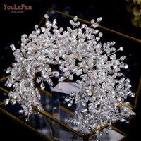YouLaPan HP385 Baroque Rhinestone Headband Wedding Crowns Shining Bridal Hair Accessories Prom Queen Crystal Headwear Clips & Barrettes