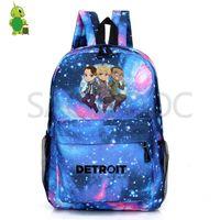 Plecak Detroit staje się ludzką galaktyką Kara RK800 Torby szkolne dla nastoletnich dziewcząt chłopców podróżować plecak