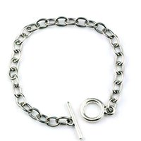 10pcs / lotti Braccialetto in acciaio inox Acciaio inossidabile Fit Dangles Charms Pendants 17-21cm Accessori fai da te