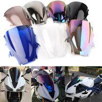 Motorcycle Windshield Double Bubble WindScreen Wind Deflectors Screen Airflow Fit For Daytona 675 2009 2010 2011 2012