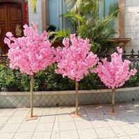Искусственное вишневое дерево имитация персикового искусства орнамент свадьба фестиваль фестиваль украшения на открытом воздухе садовые декоративные цветы венки
