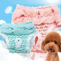 Dog Apparel Pet Diaper Physiological Pants Sanitary Panties Washable Female Shorts Underwear Lace Edge Trousers