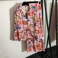 Designer di personalità Donne Donne Sleepwear Luxury Seta Set di due pezzi Set Pigiama Set regalo di compleanno per la camicia da notte di marca della moglie