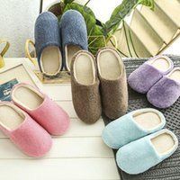 Women Winter Warm Slippers Cotton Sheep Lovers Home Indoor House Shoes Woman 37-43 Bath Mats