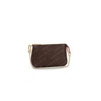 미니 Pochette 액세서리 화장품 가방 작은 핸드백 골드 체인 작은 지갑 클러치 백 크로스 바디 모노 에베핀 인쇄 지갑 Coin Pouches M58009 선물 상자