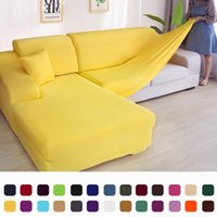 Chair Covers Solid Corner Sofa Couch Slipcovers Elastica Material Skin Protector For Pets Chaselong Cover L Shape Armchair