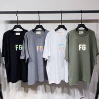 19FW Tanrı'nın Korkusu Sis Essentials 3 M Yansıtıcı Tee FG Kısa Kollu Erkek Kadın Yaz Casual Sokak Kaykay T-shirt